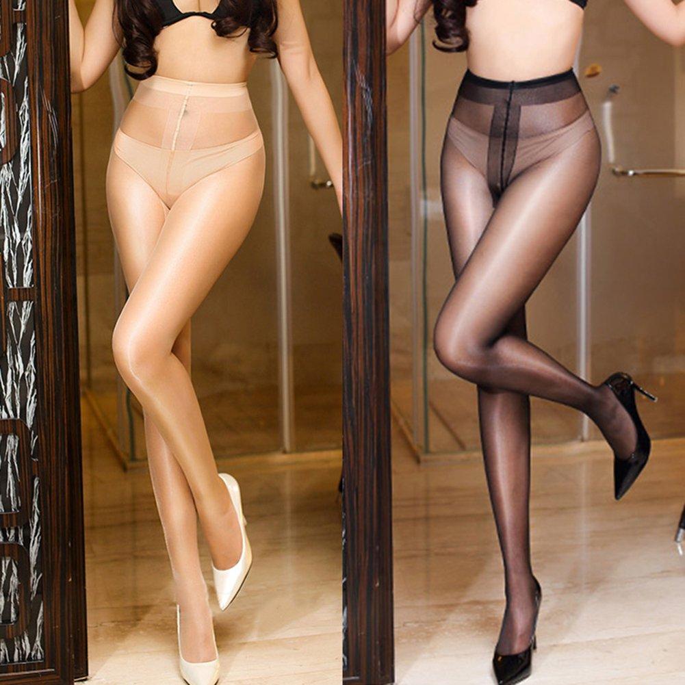 New oily Stockings,Shuohu Seamless Women T Crotch Stockings by Shuohu (Image #2)