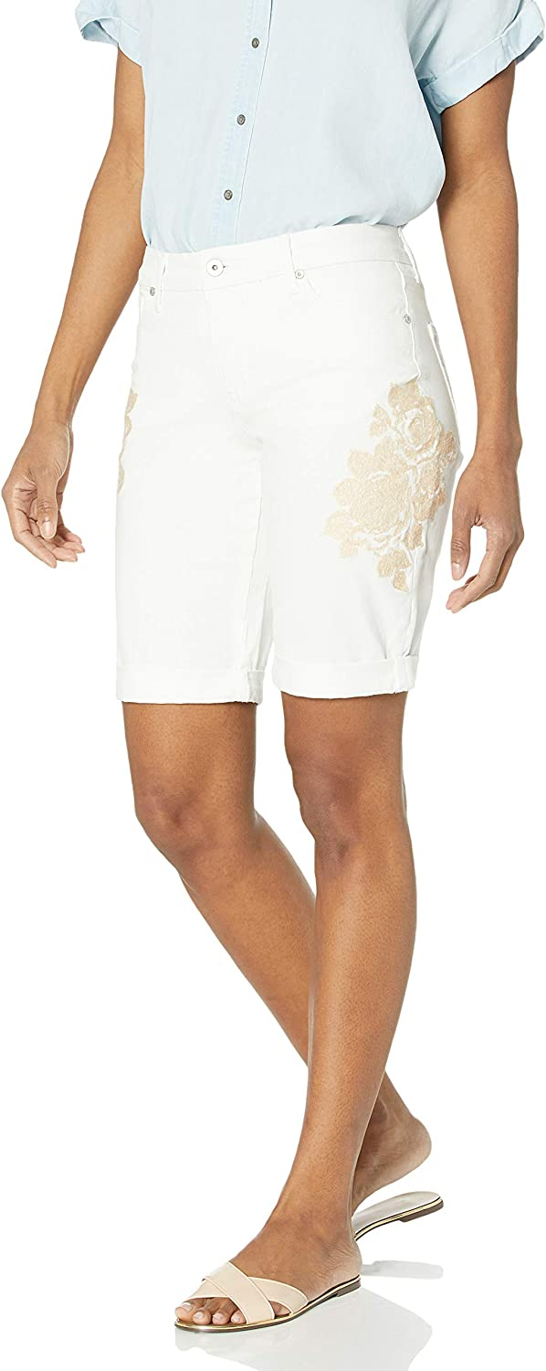 Miracle Body Women's Faith-Bermuda with Embroidery