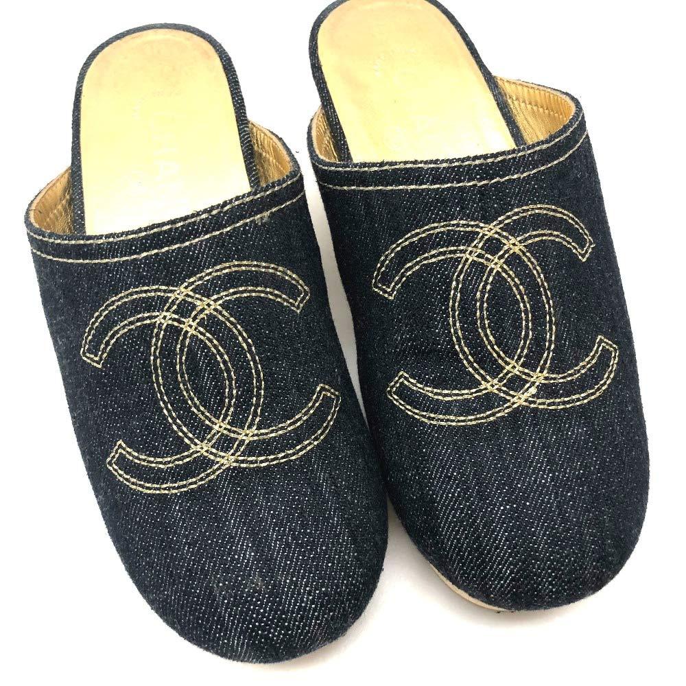 83890d0ea9db Amazon | (シャネル) CHANEL CC ココマーク デニム サボ サンダル 靴 デニム/レディース 中古 | ミュール・サボ
