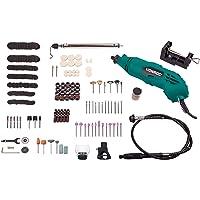 VONROC Multifunctioneel gereedschap | Roterende 160 W - flexibele as - incl. 232-delige accessoireset en opbergtas