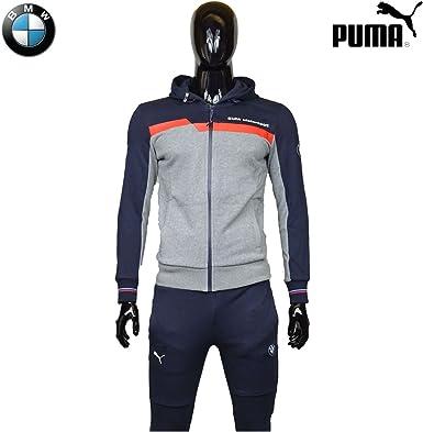 Survetement Puma BMW Motorsport Bleu Gris 100% Coton 2017