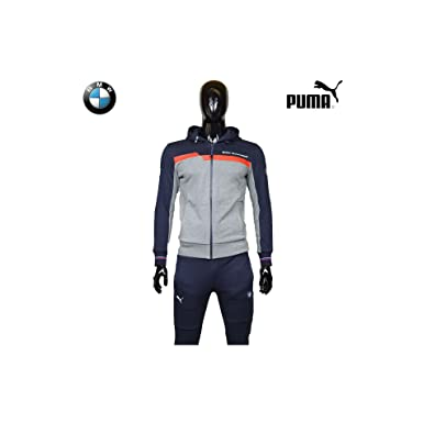 c71d62a666bf2 Survetement Puma BMW Motorsport Bleu - Gris 100% Coton 2017 - M - Tech  Fleece
