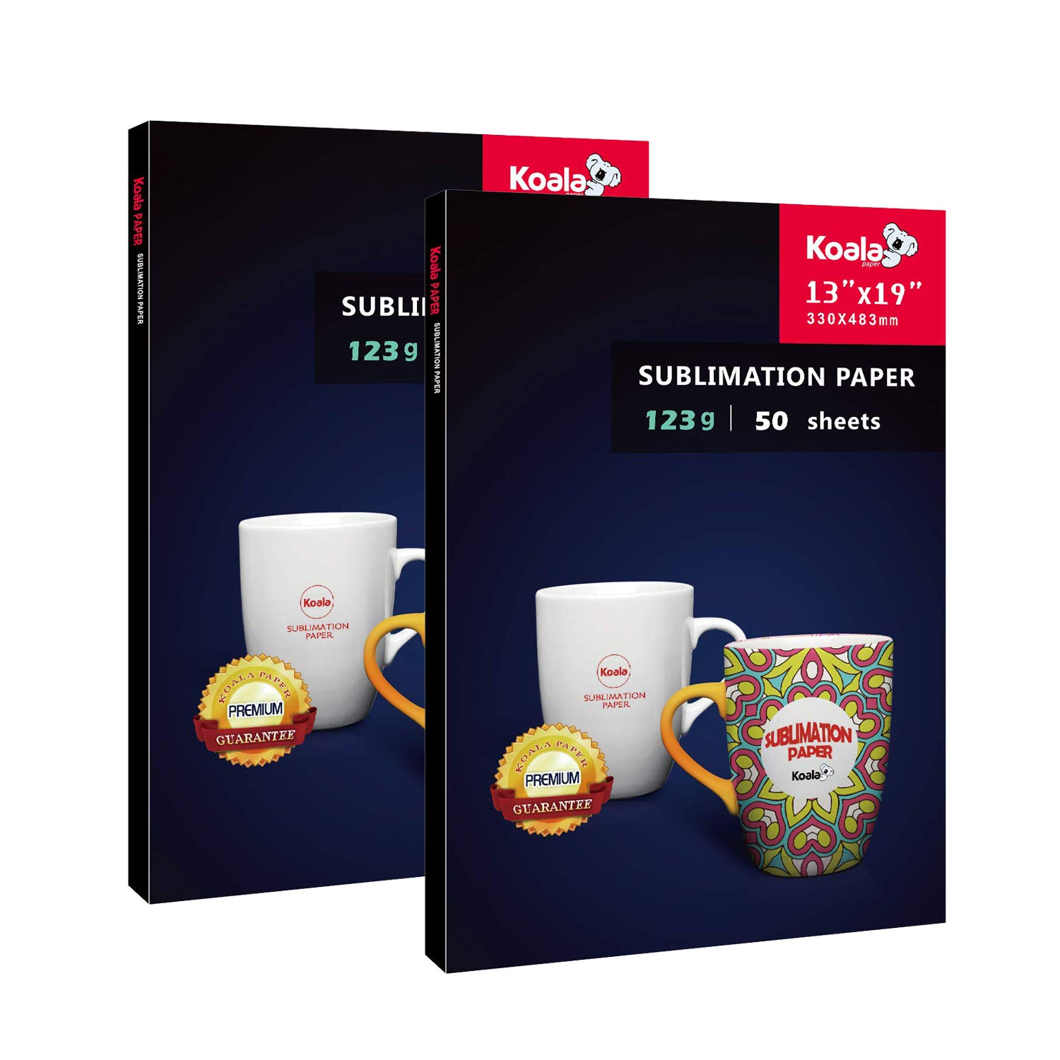 Koala Sublimation Paper 13x19 Inches Super Size Heat Transfer only Compatible with inkjet printer 123gsm 2 Pack