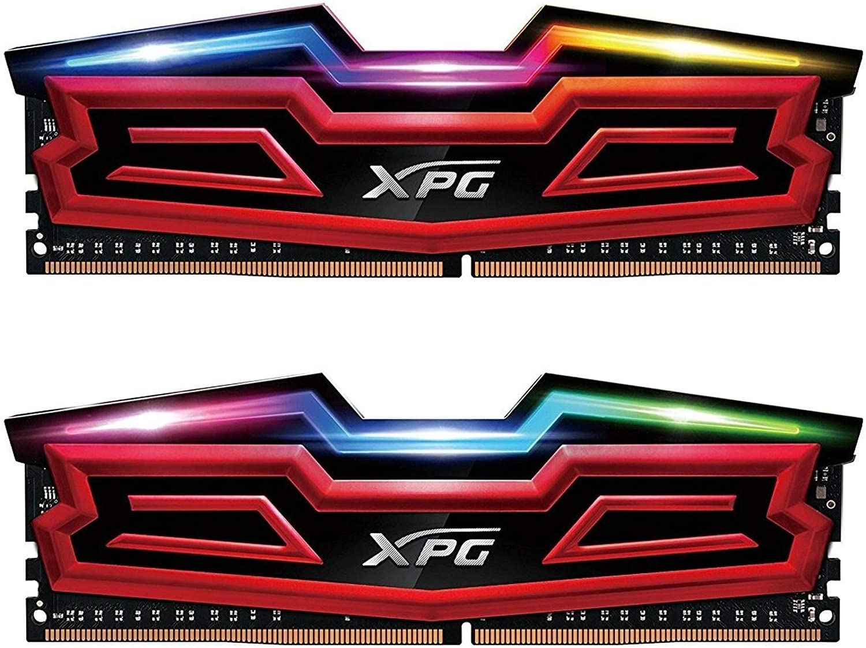 XPG Spectrix D40 RGB 3600MHz 16GB (2x8GB) 228-Pin PC4-28800 Desktop U-DIMM Memory Dual Retail Kit Multi-Colored (AX4U360038G17-DR40)