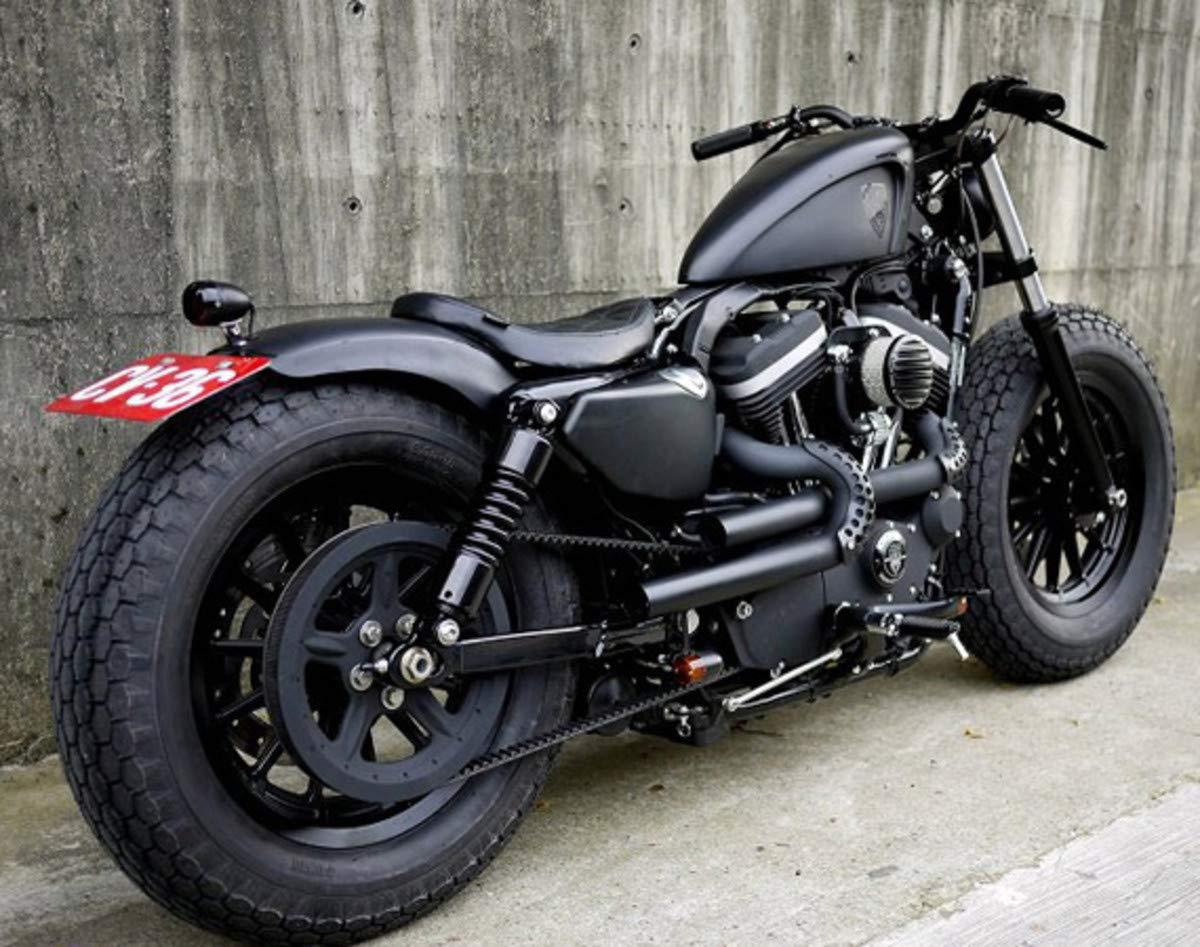 TJMOTO Deep Indented 3.3 GAL EFI Fuel Gas Tank For Motorcycle Harley Davidson Sportster 883 1200 XL Bobber 2007-2019