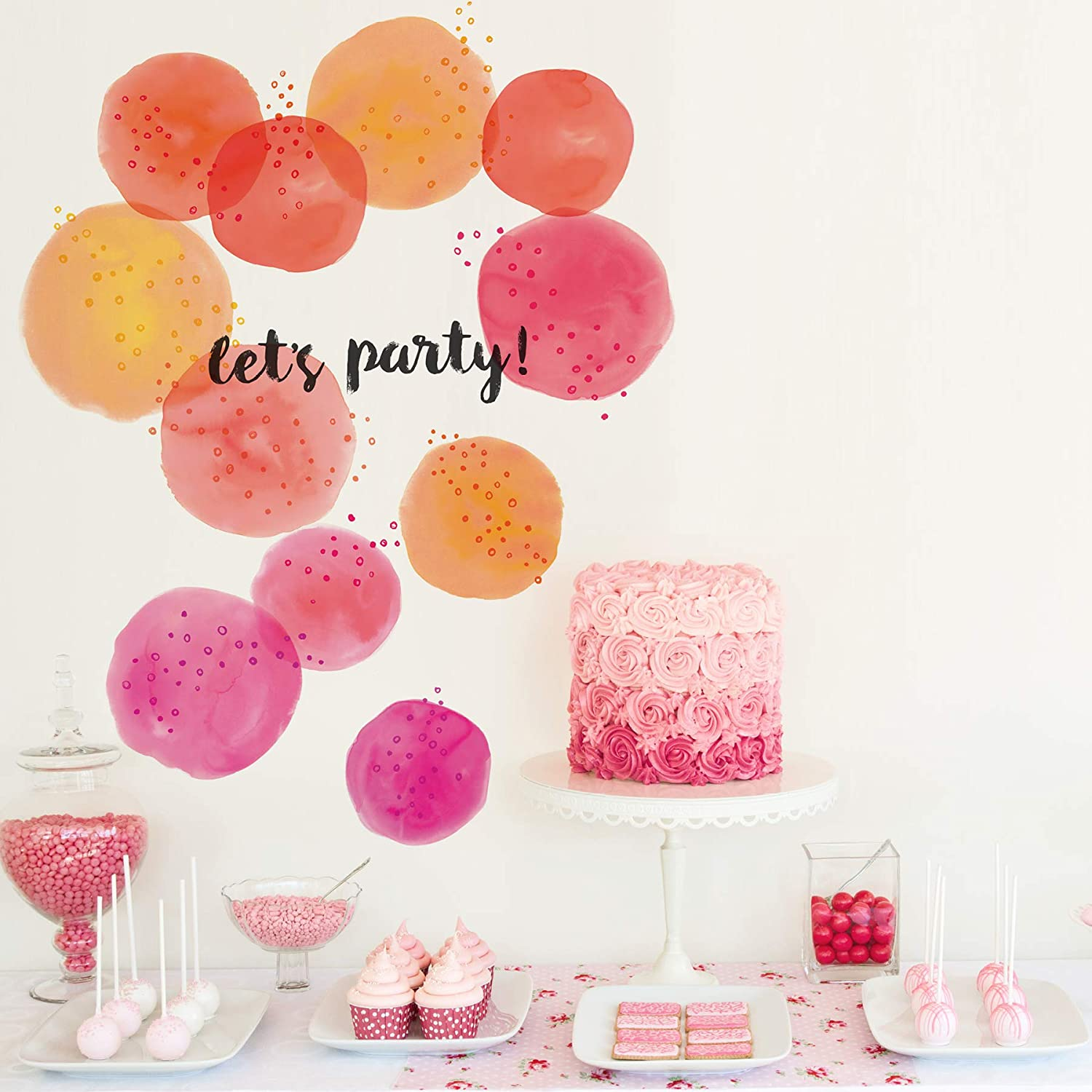 Pink Wall Pops DWPK3279 Lets Party Art Kit Wall Decal