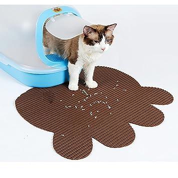HomeYoo Alfombrilla para Arena de Gato para Perro, Material de PVC para Control de Scatter