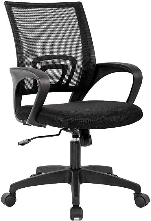 Amazon Com Home Office Chair Ergonomic Desk Chair Mesh Computer Chair With Lumbar Support Armrest Executive Rolling Swivel Adjustable Mid Back Task Chair For Women Adults Black Furniture Decor