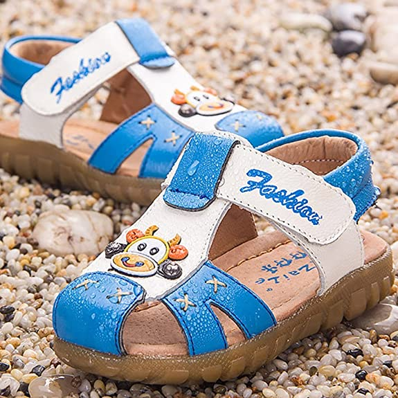 Baby Boy's Girl's Closed Toe Summer Sandals - Cartoon Animal Sandal Shoes  White Blue 30: Amazon.co.uk: Shoes & Bags