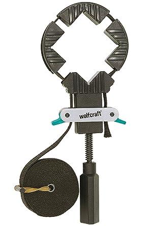 3051000 ancho 25 mm 4 m Wolfcraft 3441000 Tensor de cinta de carraca con 4 mordazas Mordaza Angulo Doble Ajust