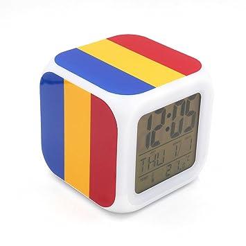 Boyan LED Alarma Reloj Rumania bandera nacional diseño ...