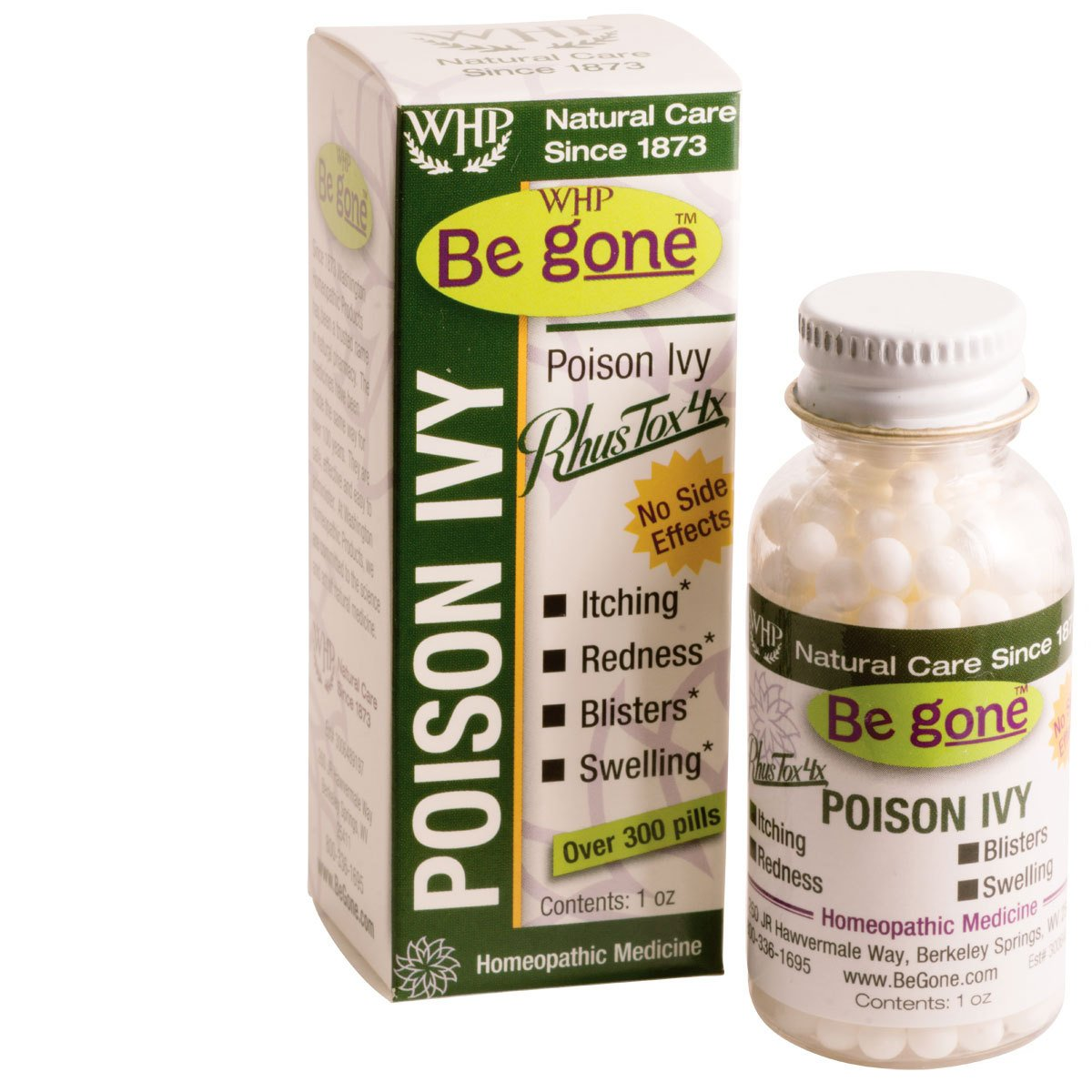 Be goneTM Poison Ivy, 300 Pills. An Effective, All-Natural Solution for the Itching, Blistering Rash of Poison Ivy. by WHP Be gone