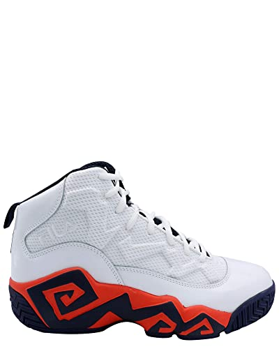 Fila Men's MB Heritage Sneaker,White/Navy/Orange,8