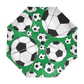 ALAZA Viajes Fútbol Fútbol Verde del Paraguas de Apertura automática Cerca de Protección UV a Prueba