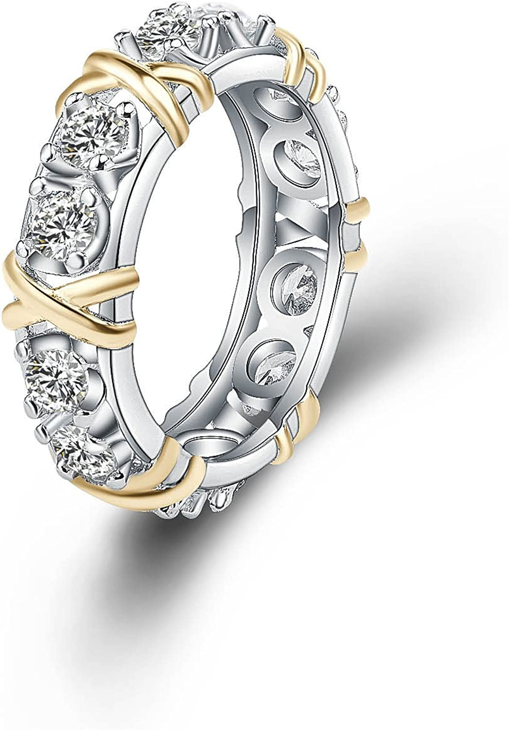 Ginger Lyne Collection Charmaine X's and O's Anniversary Wedding Band Ring