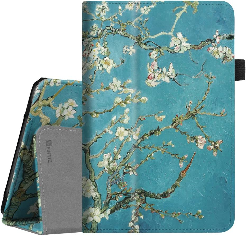 Fintie Case for Verizon ASUS ZenPad Z8s (ZT582KL), Premium PU Leather Folio Stand Cover with Auto Sleep/Wake Function for Verizon ASUS ZenPad Z8s 7.9 inch Tablet 2017 Release, Blossom