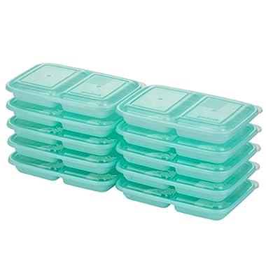 Good Cook 10786 Meal Prep on Fleek, 2 Snack Compartments BPA Free, Microwavable/Dishwasher/Freezer Safe, Blue
