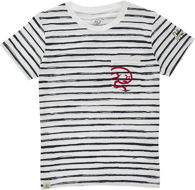 El Niño - Camiseta de algodón con Rayas y Bolsillo para niños ...