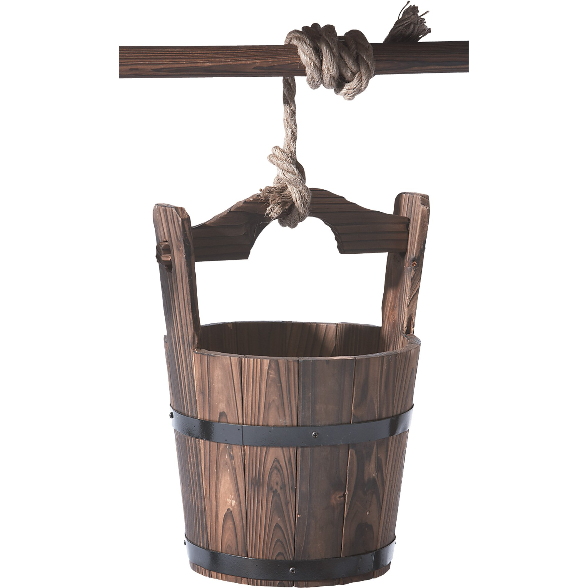Wood Burnt Finish Wishing Well by Stonegate®