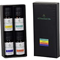 Aromatherapy Essential Oil Vitality Blend Collection - Set of Top 4 Pure Therapeutic Grade Essential Oils Blends, 4x10 ml - Mental Clarity Blend, Energy Blend, Sensuous Aphrodisiac Blend, Sleep Assisting Blend - Gift for family and friends Australia