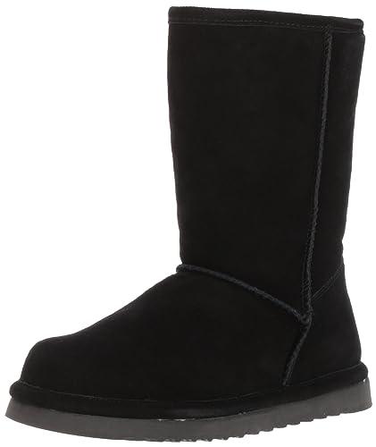 Old Friend Women's Dolly Zipper Boot Slipper, Black, ...