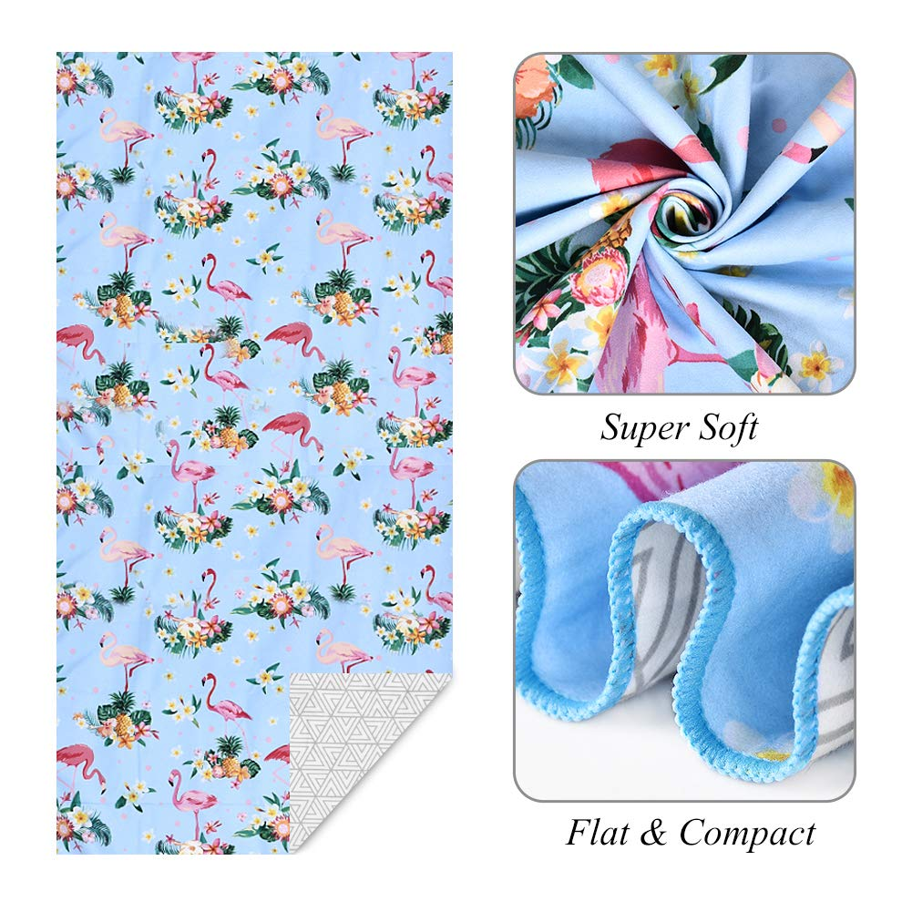 Quick Fast Dry Towel for Beach Pool Sand Free Large Beach Towels Personalized for Her Travel Vacation Super Absorbent Bath B BAIJIAWEI Microfiber Beach Towel Spa Swim