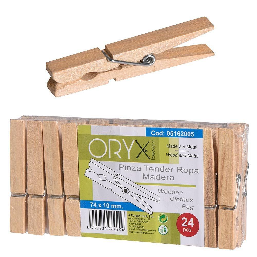 Pinzas peque/ñas decorativas madera, 50 unidades, 2,5 cm de longitud
