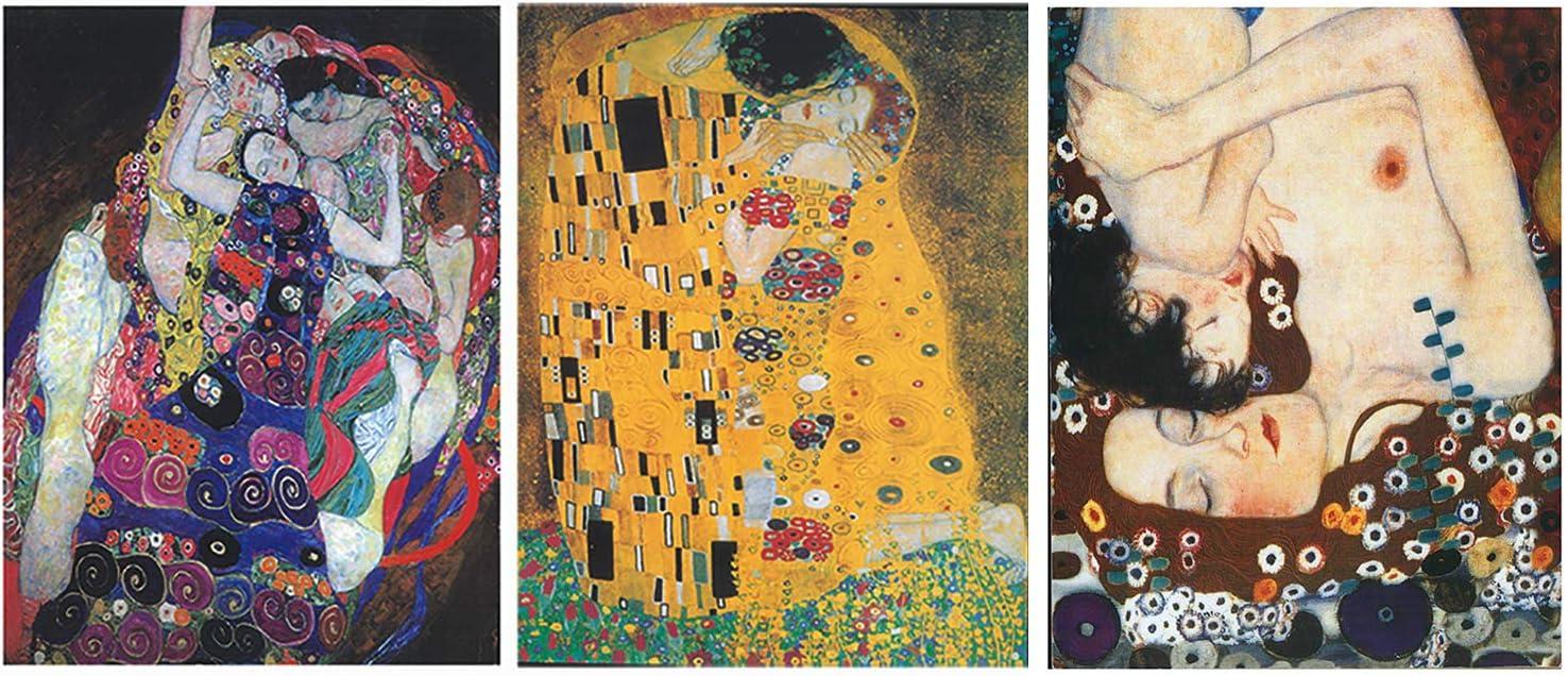 Dcine Cuadros Decorativos/Set 3 Pinturas Artista Klimt/Lámina sobre Madera/unid. 19 cm x 25 cm x 4mm