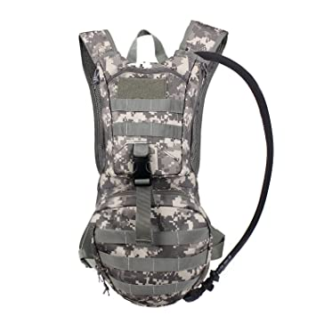 Amazon.com : Tactical Hydration Pack Backpacks with 2.5L Bladder ...