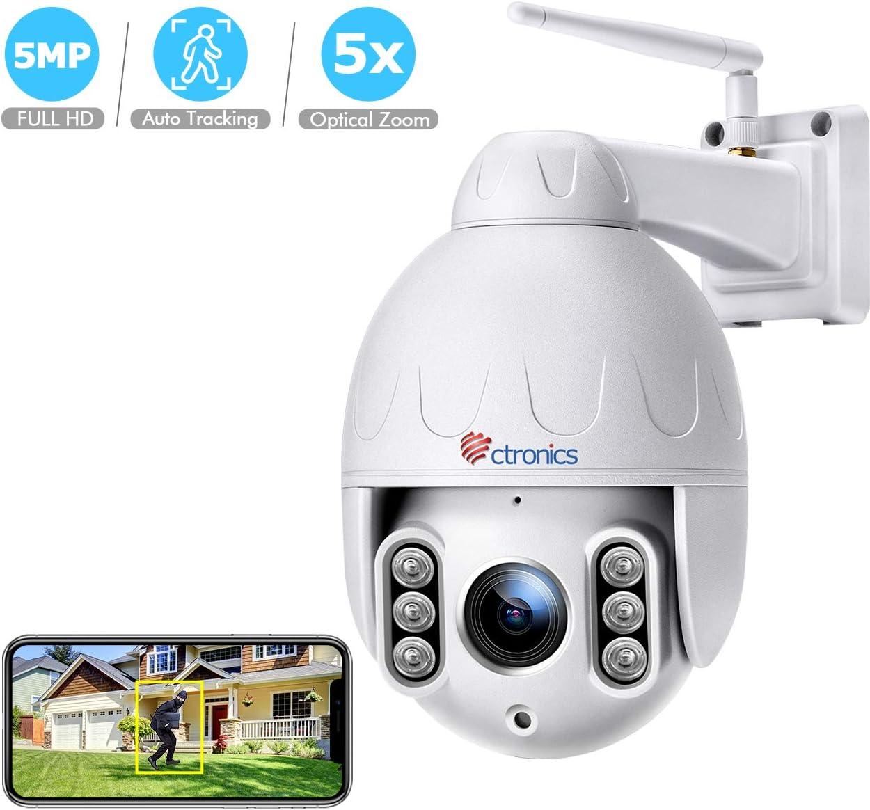 Ctronics 5MP Menschenerkennung WiFi Überwachungskamera -