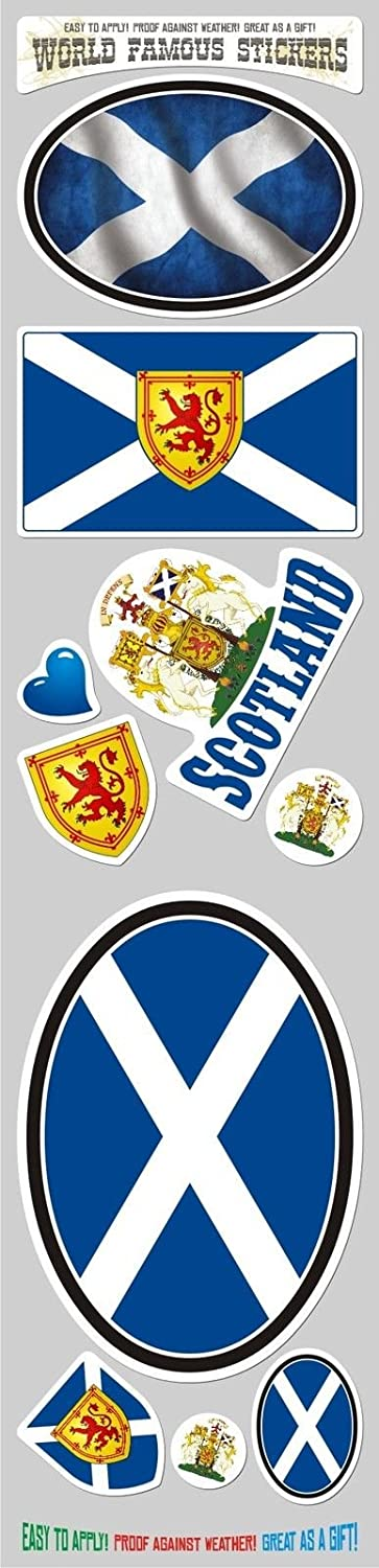Scotland Decal Scottish Flag Car Chrome Emblem 3D Sticker by Car Chrome Decals CBSHD252B