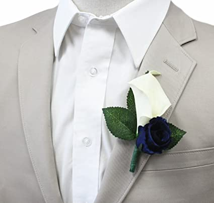 d57fb723f44 Amazon.com  Boutonniere For Wedding And Prom(XLCLBN006-NV ...