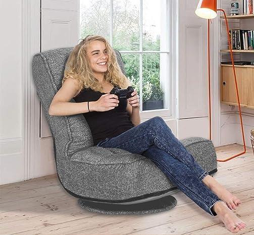 Deal of the week: High Back Folding Floor Gaming Chair,360-Degree Swivel Floor Lazy Sofa Chair,High Back Padded Backrest Lounger Sleeper Game Rocker