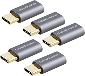 USB-C to Micro-B Adapter[5-Pack], CableCreation Type C Male to Micro USB Female Convertor Data & Charging Compatible Samsung Galaxy S10/S9/S8 Note 8,Pixel,Nexus 6P 5X,etc Spacy Gray Aluminum