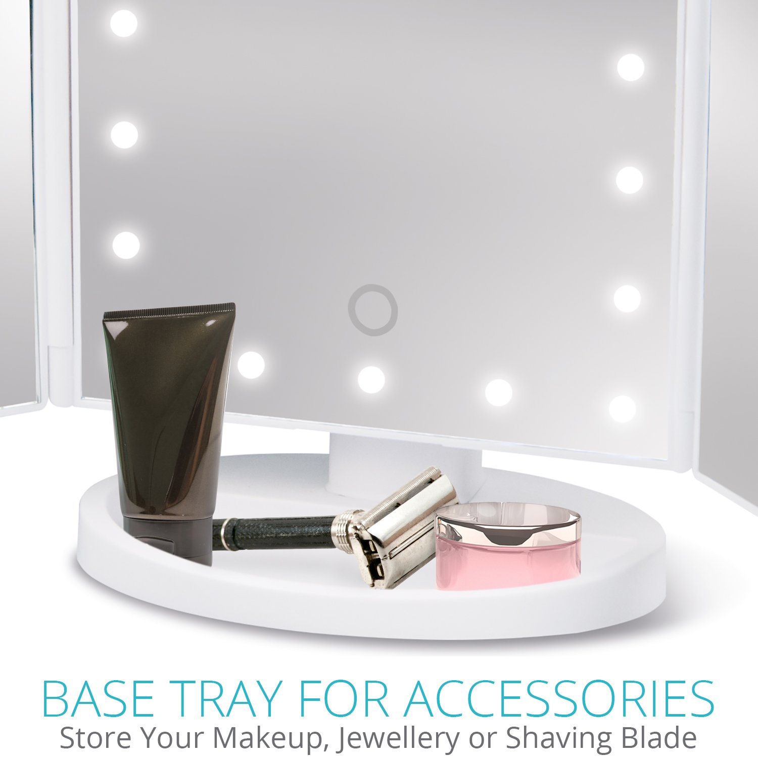 Dressing Table Makeup Mirror With Light Make Up And Shaving Free