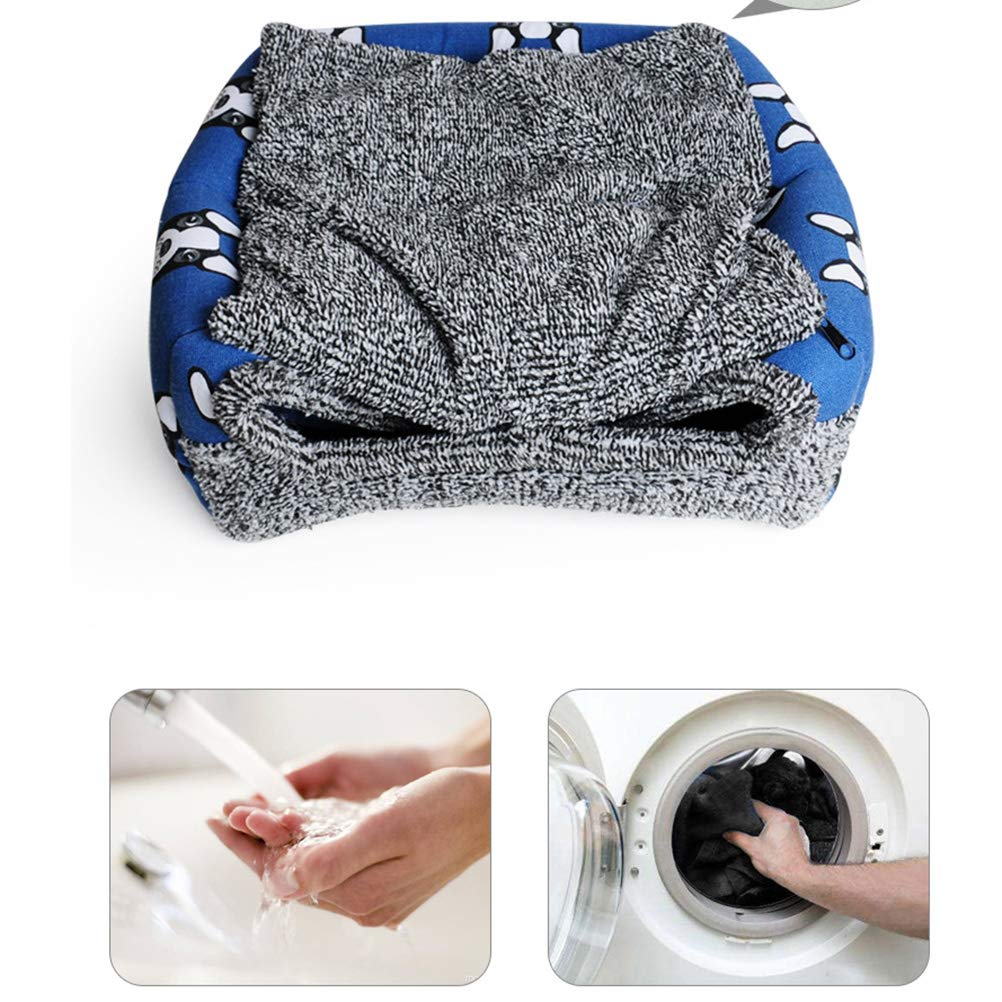 Blue POPETPOP Pet Dog Tent Bed Winter Warm Cat Kennel Bed Puppy Cave House Indoor for Small Medium Dogs Size S
