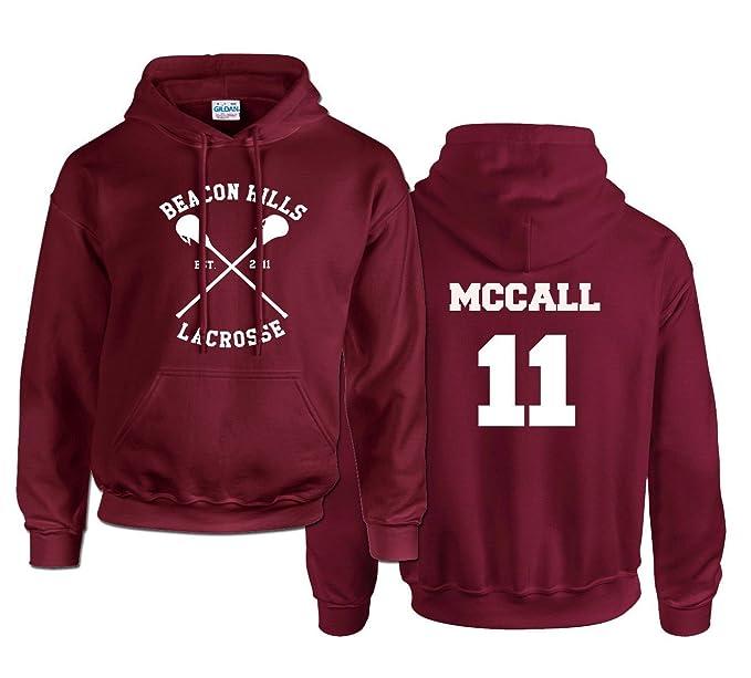 """Sudadera con capucha, con mensaje """"McCall 11"""" rojo rojo (Maroon)"""