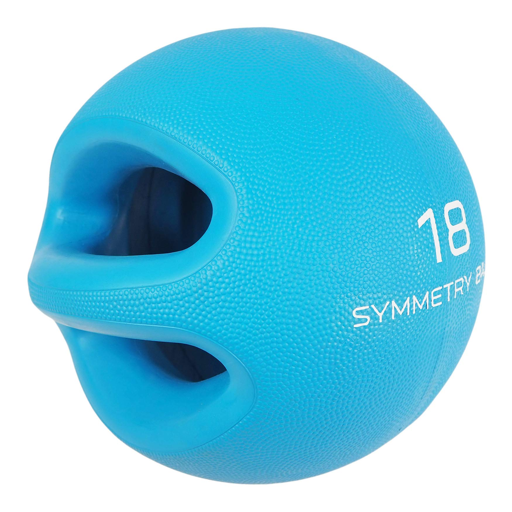 Smart Body Symmetry Ball - Patented Dual Handled Medicine Ball for Core Strength (18-Pound Blue)