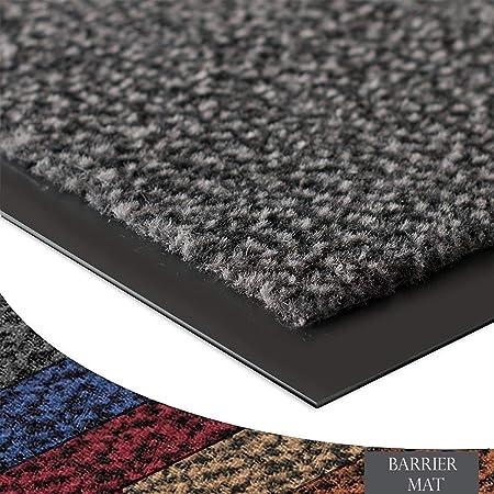 Large Heavy Duty Grey Non Slip PVC Backing Door barier mat