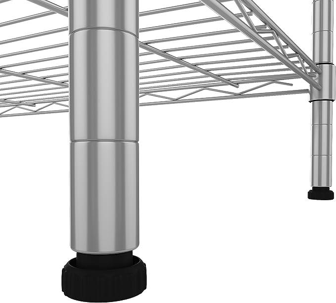 bathwa 6/estante estanter/ía ba/ño Metal Estante Estanter/ía de cocina con ganchos laterales de cromado 54/x 29/x 160/cm Plata