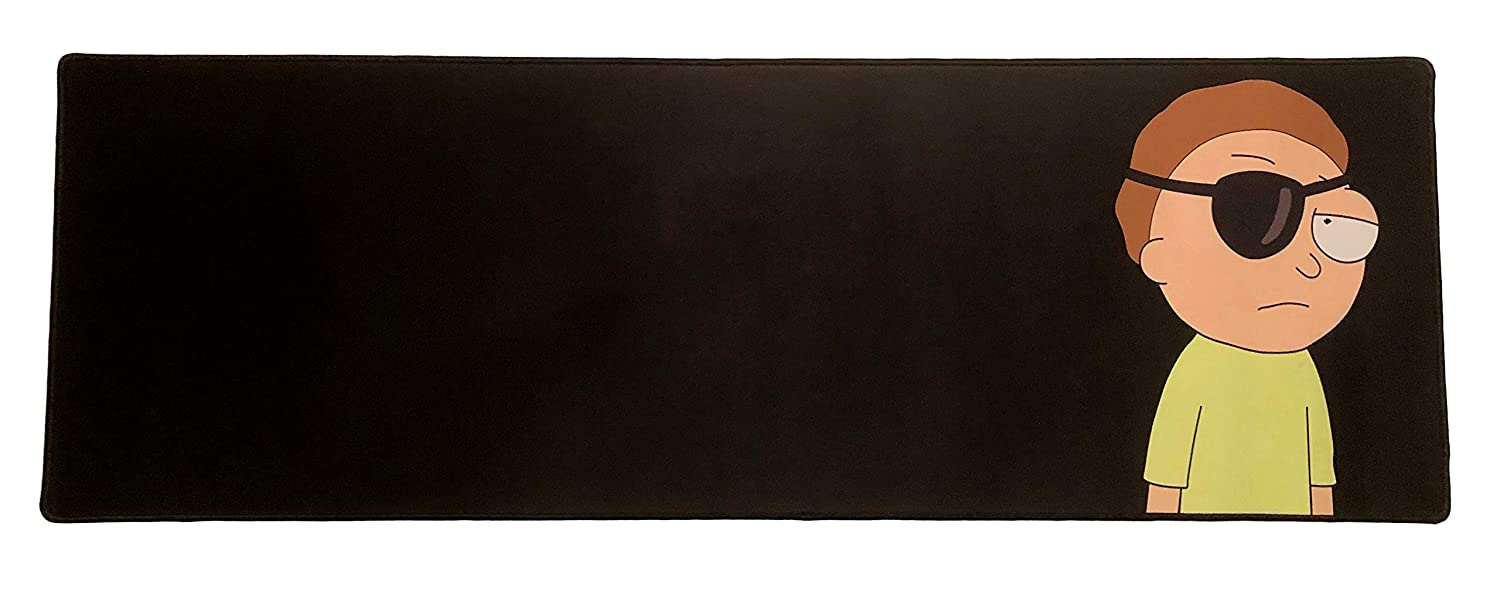 Large Desk Mat Anti Slip Rubber Base Extended Size Custom Professional Gaming Mouse Pad Standard, Rick Stitched Edges 28.5 x 12.75 x 0.12