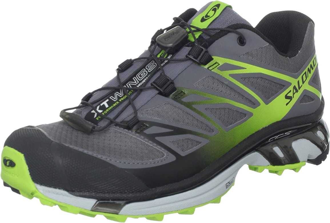 SALOMON XT Wings 3 Zapatilla de Trail Running Caballero, Gris/Amarillo/Negro, 42: Amazon.es: Zapatos y complementos