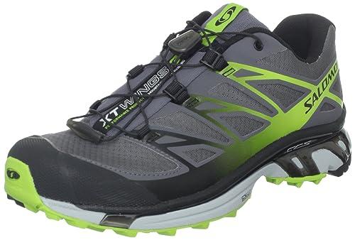 low priced c5836 9dbff SALOMON Men s XT Wings 3 Trail Running Shoe,Dark Cloud Light Onyx Organic