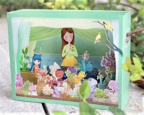 Tarjeta de caja emergente 4D mi jardín secreto cumpleaños ...