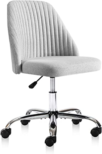 Rimiking Home Office Modern Twill Fabric Adjustable Mid-Back Task Ergonomic Executive Chair