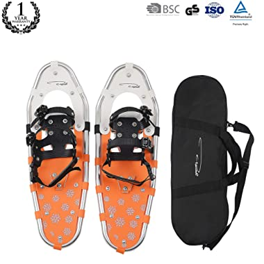 Pansel 21 /22 /25 /30 /36  Snowshoes for Men, Women, Lightweight Aluminum Alloy Snow Shoes with Adjustable Ratchet Bindings + Free Carrying Tote Bag, 40/60/80/120/160/210 lbs. Capacity