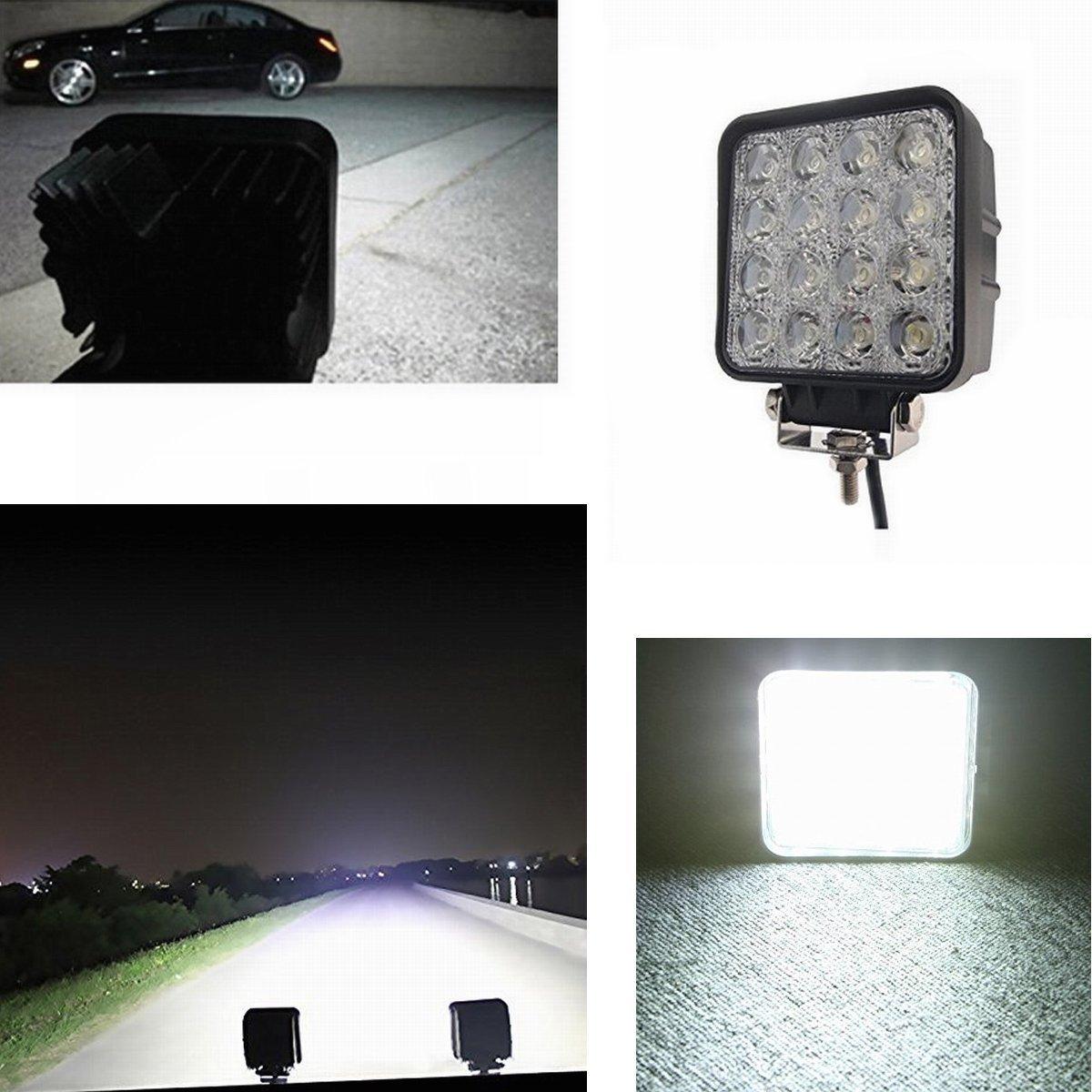 Trattore per auto SUV ATV UTV SAILUN 8X27W LED Faro da lavoro 8 * 27 W, rotondo Fari per fuoristrada Faro anteriore,IP67 Impermeabile 12V 24V Luce retromarcia