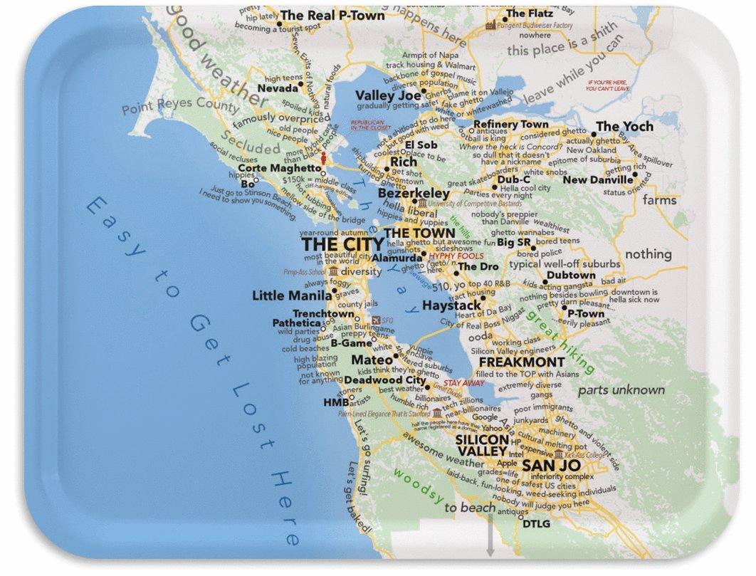 Amazoncom San Francisco Bay Area TV Tray According Urban - Yahoo us weather map