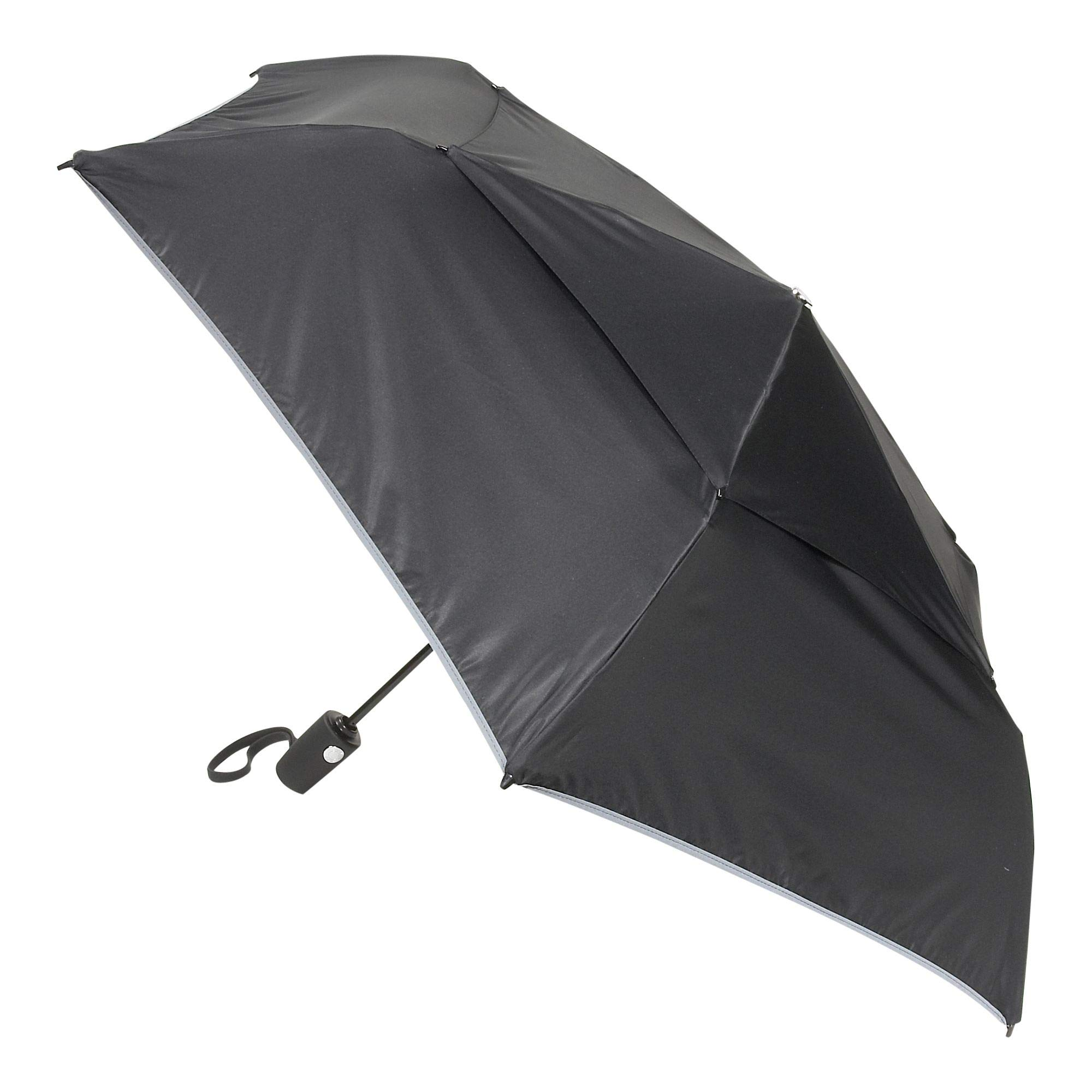 TUMI - Auto Close Umbrella - Windproof Compact Travel Umbrella - Medium - Black