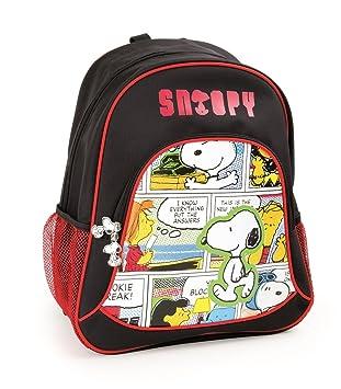 Mochila escolar Snoopy para niños mochila mochila escolar | incluye dos bolsillos de malla a los ...